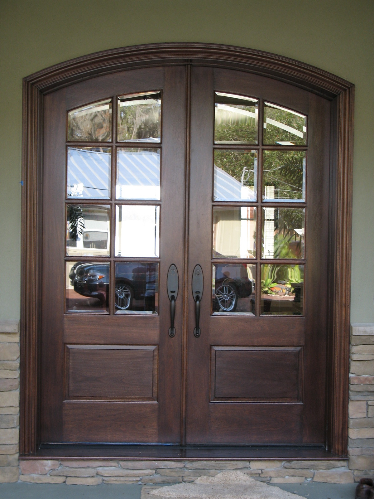 1000 images about front doors on pinterest for Black french doors exterior