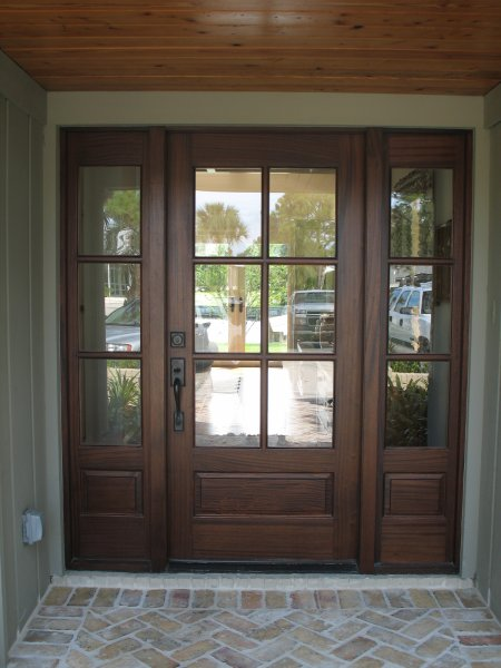 Home entrance door french doors exterior for Exterior front entry wood doors with glass