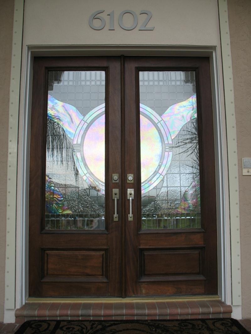 Leaded Glass Doors : Leaded glass door