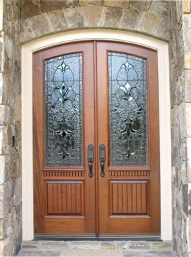 Wood doors french doors exterior doors iron doors for Front entry french doors
