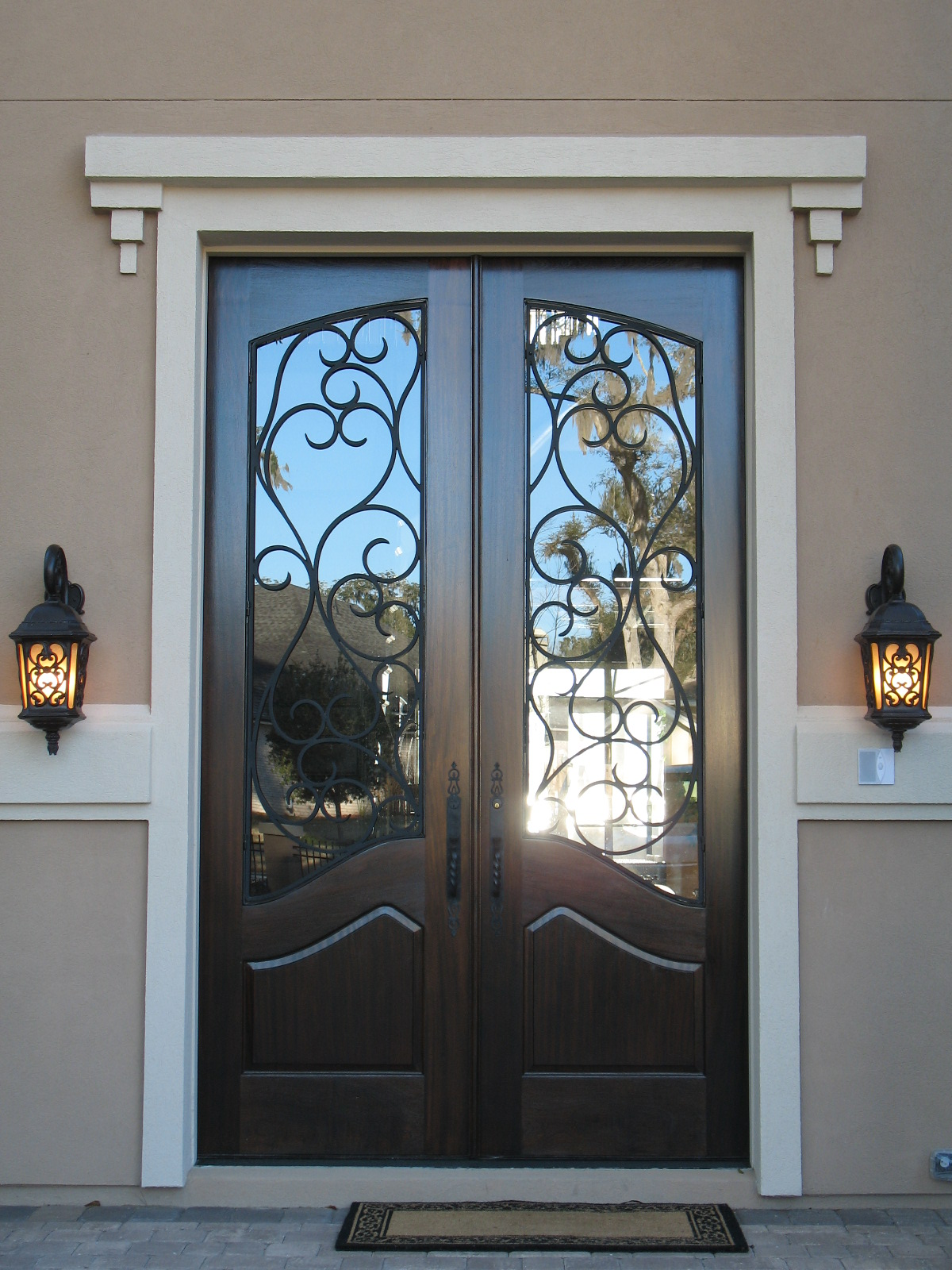 Wood doors french doors exterior doors iron doors for External double french doors