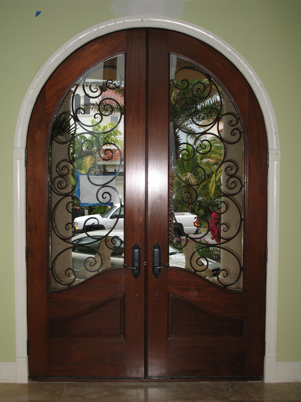 door used full with sale steel front iron depot doors dallas and inserts size entry exterior lowes for glass of home wrought